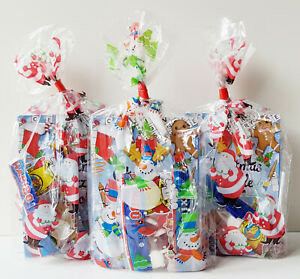 CHRISTMAS PRE FILLED KIDS PARTY BAGS UNISEX XMAS LOOT BAGS STOCKING FILLERS