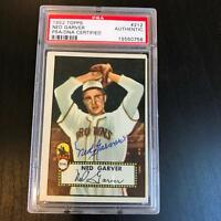 1952 Topps #212 Ned Garver Signed Autographed Baseball Card PSA DNA COA