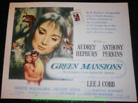 GREEN MANSIONS MOVIE POSTER AUDREY HEPBURN Style A Half Shett 22x28 Rare Rolled