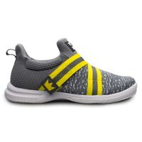 Mens Brunswick SLINGSHOT Slip On Bowling Shoes Grey/Yellow Sizes 7-14