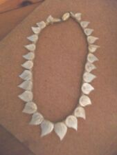 Vintage Miriam Haskell Mother of Peal leaf Necklace Art Deco 1930