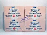 Johnson & Johnson Baby Blossoms Bar Soap (Lot of 4)