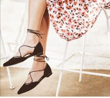 Stuart Weitzman Gilligan Women's Black Suede Ballet Flats Size 9M