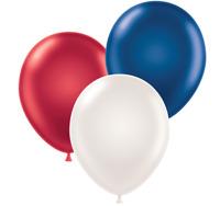 """Tuf-Tex® 17"""" Metallic Patriotic Assortment Red, White & Blue (20 Ct)"""