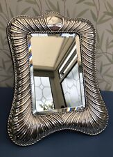 More details for william comyns victorian (london 1899) large silver easel mirror