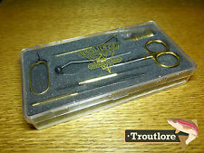 DR SLICK BRASS 7 PIECE FLY TYING TOOL GIFT SET - NEW TYER FLYTYING TOOLS in BOX