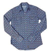 Wrangler Retro Premium Men's Long Sleeve Button Front Printed Shirt Size Small