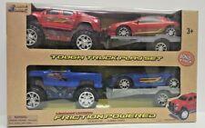 4 Tough Truck Playset Toy Vehicles Camaro, Colorado,Silverado,Corvette