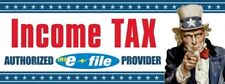 Income Tax (Uncle Sam) Vinyl Banner Sign - 3' X 8'