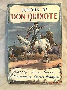 Edward Ardizzone SIGNED -  Don Quixote - James Reeves - 1st Blackie 1959, Jacket