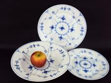 BEAUTIFUL ROYAL COPENHAGEN  PLAIN BLUE FLUTED PLATES 167 184 179