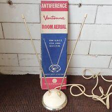 More details for original boxed vintage vantenna indoor tv rabbit ears antenna atomic mid century