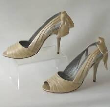 Nuevo Diseñador Satén Zapatos Stiletto Boca De Pez Julie mcnoun Boda Reino Unido 7 RRP £ 190