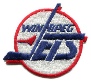 "1990-95 WINNIPEG JETS NHL HOCKEY VINTAGE 2 5/8"" DEFUNCT TEAM LOGO PATCH"