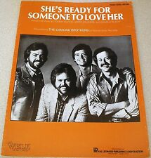 THE OSMOND BROTHERS She's Ready For Someone To Love Her Sheet Music 1983 Song