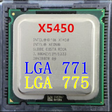 Intel Xeon X5450 3GHz quad-core processor compatible LGA775 ultra Q9550. Q9650
