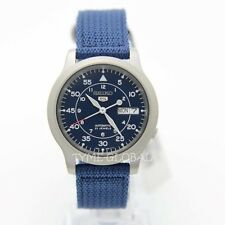 Seiko 5 SNK807K2 Automatic Military Blue Nylon Strap Analog Unisex Watch