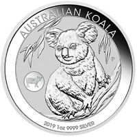 2019 Australian Koala 1oz Silver Bullion Coin with Pig Privy