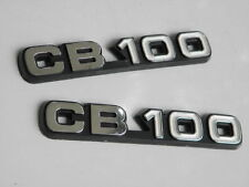 Pair New Honda CB100 CB 100 K2 Side Frame Cover Emblem Decal Badge Logo