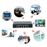 5-Port 10/100/1000Mbps LAN Ethernet Network Desktop HUB Deko N6U8 Adapter O0M9