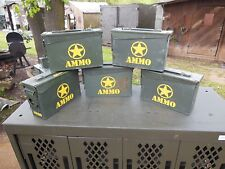 5..MILITARY SURPLUS  7.62MM  AMMO CANS TOOL BOX HUNTING CAMPING TENT STAKES ARMY