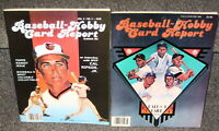1984 BASEBALL HOBBY CARD REPORT VOL 2 NOS 2 & 3 W/ 40 T206 REPRINT CARDS IN EACH