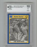 1990 Notre Dame Joe Montana #170 Card BCCG 10!! San Francisco HOF QB! GOAT?