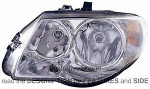 LHD Headlight Chrysler Voyager 2004-2008 Left Side 04857831AB-04857831AC