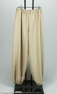 Renaissance Pants Men's Polyester Elastic Waist & Ankle Period Costume Pants M/L