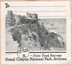 """""""From Fred Harvey"""" Grand Canyon National Park Arizona Luggage Label Sticker 1891"""