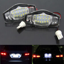 2PCS White 18 LED License Plate Light Lamp For Honda Accord Civic Acura MDX TL