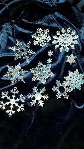 ⭐❄️Deko Glitzer Sterne Schneeflocken ❄️⭐