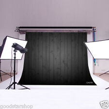7X5ft Black Wood Board Vinyl Studio Backdrop Photography Props Background CA378