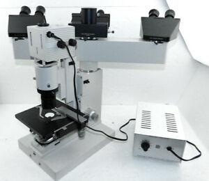 Leitz Wetzlar Trinocular threefold Diavert Discussion Inverted Microscope