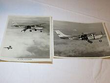 "2 photos 8""X10"" 1967 Cessna Super Skywagon plane skydivers black & white photo#%"