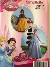 Simplicity Pattern 2817 Disney Princess Costume Snow White Cinderella Child