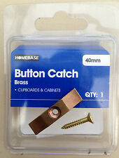 New Homebase 40mm Brass cupboard and cabinet button catch BNIB