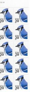 US Booklet Pane Scott# 2483a Blue Jay   MNH   Pane of 10 UNFOLDED Never Folded