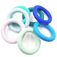 Round Silicone Teething Ring DIY Baby Nursing Chewable Bracelet Teether BPA Free