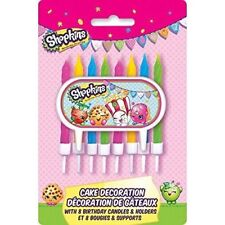 Shopkins CAKE CANDLE DECORATION KIT 8/Pkg Birthday Party Supplies free shipping