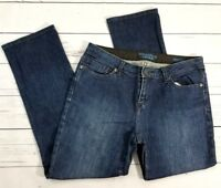 Vera Wang Simply Vera Womens Straight Jeans Size 4 (30x27) Stretch Ankle Crop