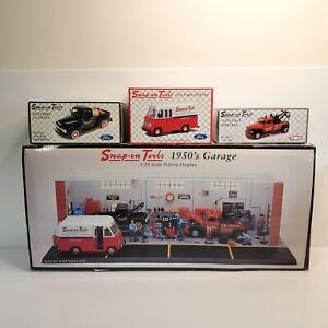 Rare Snap-On Tools 1950's Garage Display & Matching Vehicles Set 1:24 2002