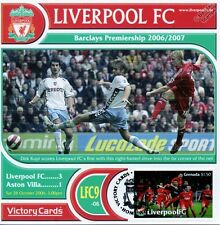Liverpool 2006-07 Aston Villa (Dirk Kuyt) Football Stamp Victory Card #609