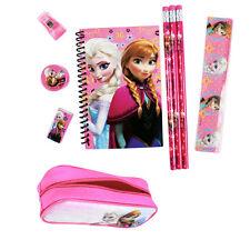 New Disney Frozen Anna Elsa Zipper Pencils Case Note-Pad Eraser Ruler Hot Pink
