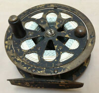 Pflueger Vintage Fly Fishing Reel Sal-Trout 1555 Brass With Line