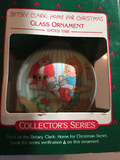 1988 Hallmark Glass Ornament Betsy Clark Christmas Ornament W/ Box 3rd in Series