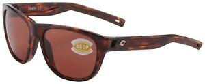 Costa Del Mar Bayside Sunglasses BAY-10-OCP Tortoise 580P Copper Polarized