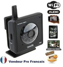 Camera Reseau IP Infrarouge Compatible IPHONE SMARTPHONE BOX ADSL NoirM319W