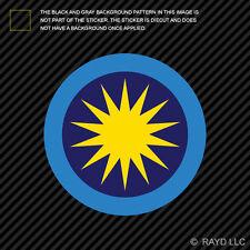 "4"" Royal Malaysian Air Force Roundel Sticker Die Cut Decal RMAF Malaysia MYS MY"
