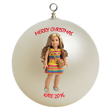 Personalized American Girl Lea Christmas Ornament